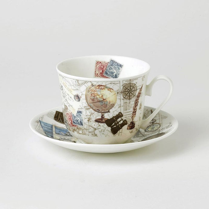 Fine Bone China Large Breakfast Cup and Saucer