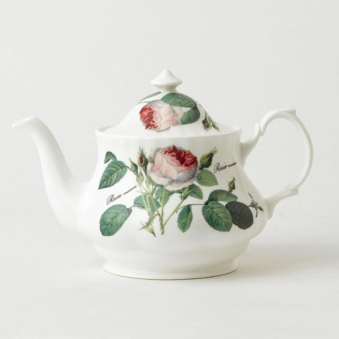 Redouté Rose Fine Bone China Teapot