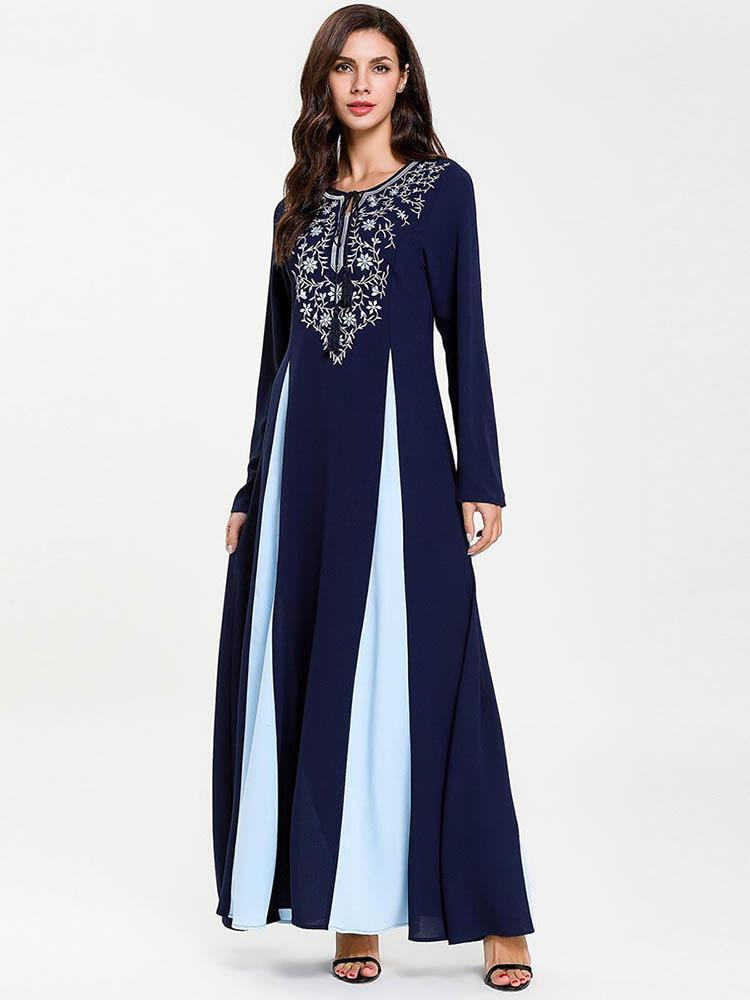 Long-sleeved embroidered split embroidered dress_1557822426.jpg