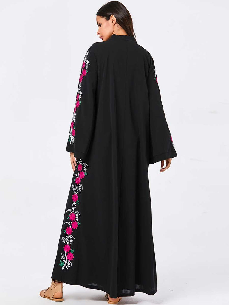 New Muslim embroidered dress
