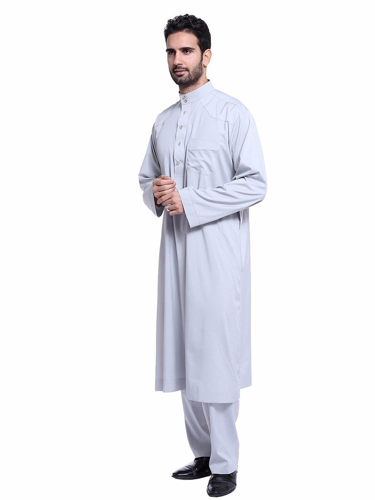 Muslim fashion national men's robes suit