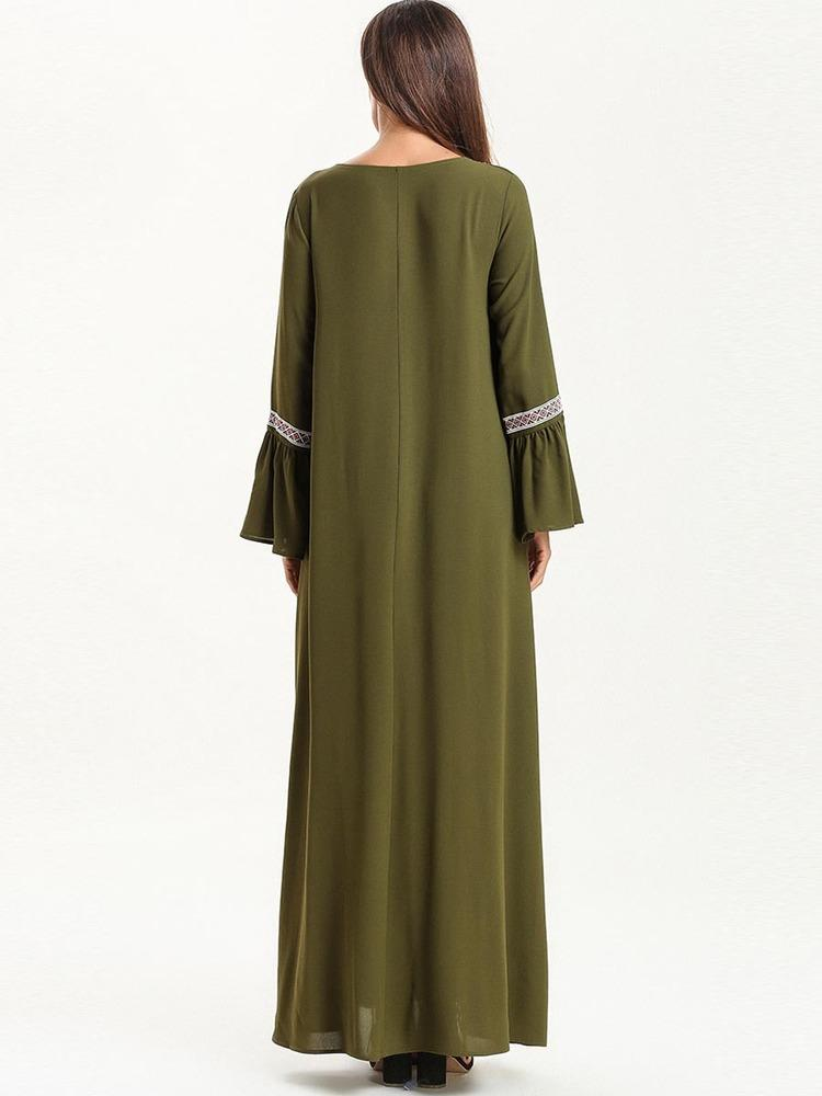 Fashionable new long sleeved skirt in solid color with flared sl_1556016921.jpg