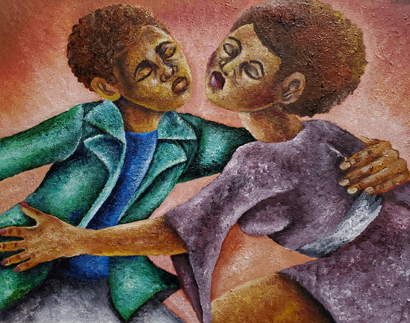 Lovers Dance - Acrylic on Canvas