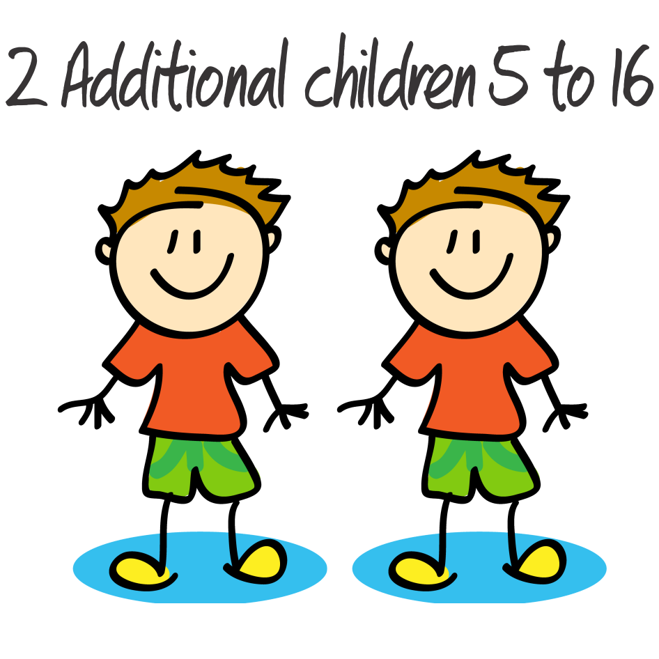 2 Additional Children - 5 to 16 years