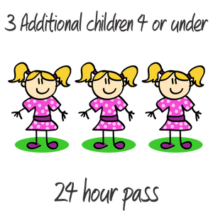 3 Additional Children - 4 years or under - 24 Hrs