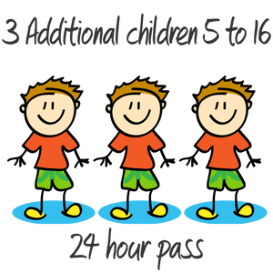3 Additional Children - 5 to 16 years - 24 Hrs