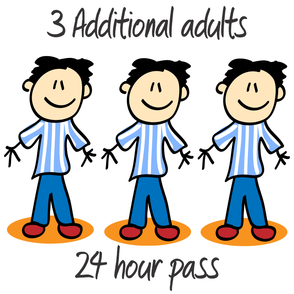 3 Additional Adults - 17 or over - 24 Hrs