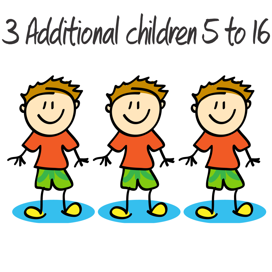 3 Additional Children - 5 to 16 years