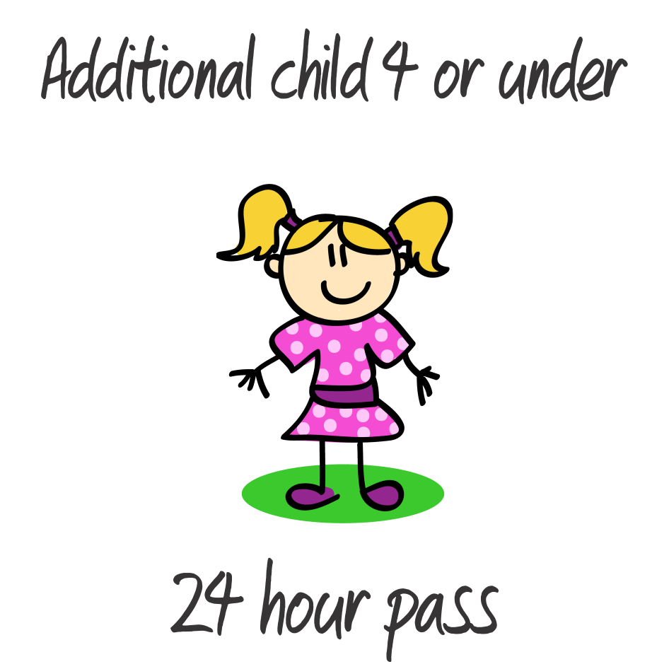 1 Additional Child - 4 years or under - 24 Hrs