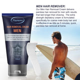 ToullGo-Hair Removal Cream for Men, Natural Painless,Plastic Scraper