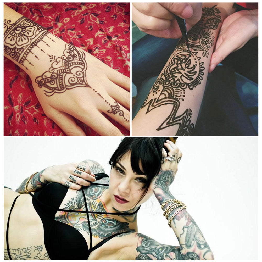 ToullGo-Henna Tattoo, Colourful Temporary Tattoo, Body Painting Tattoo Create Any Style Yourself