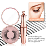 ToullGo-2 Pairs Magnetic Eyelashes with Eyeliner,3D Waterproof Liquid Magnetic Eyelashes Kit with Mirror and Tweezers Inside