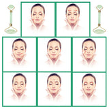 ToullGo-Jade Roller for Face, Anti-aging 100% Natural Facial Jade Stone Set