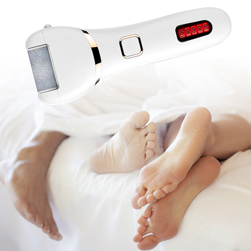 ToullGO-Electric Callus Remover, USB Rechargeable, LED Lights and Extra Roller Head
