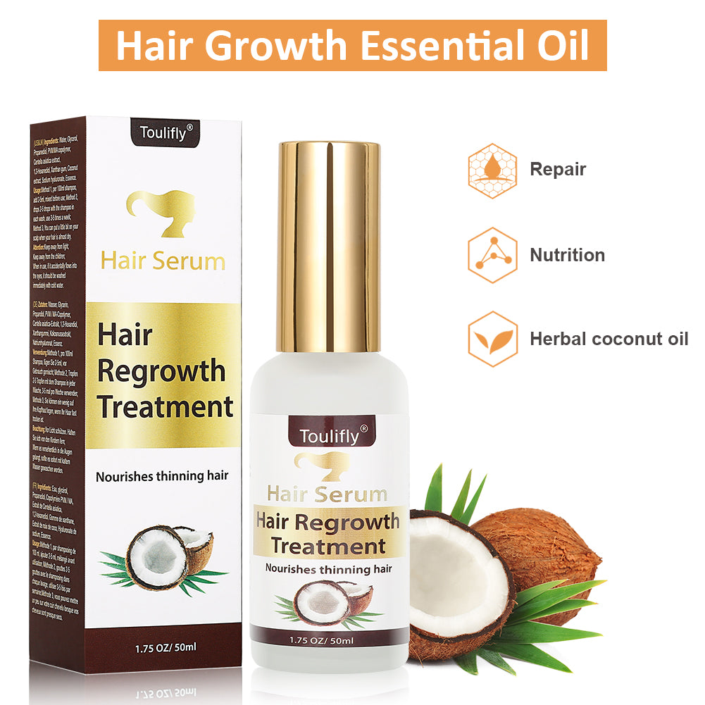 ToullGo-Hair Growth Serum,Anti Hair Loss,Natural Herbal essence Anti Hair Loss Hair Serum