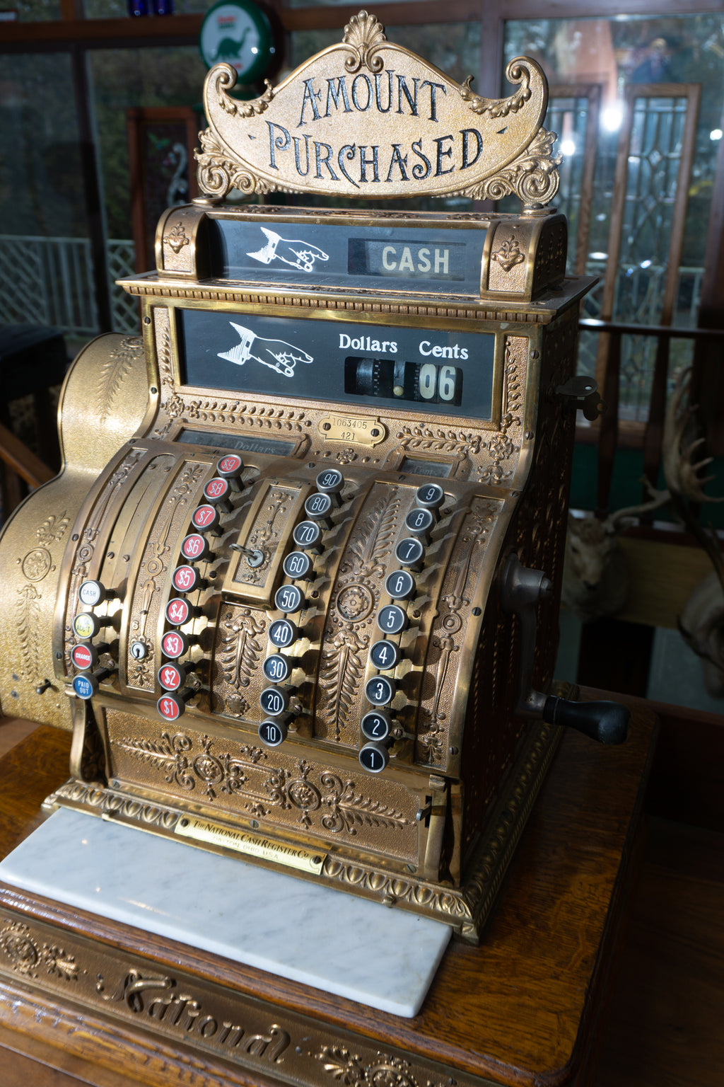 Antique NCR Model 421 National Cash Register ca. 1912