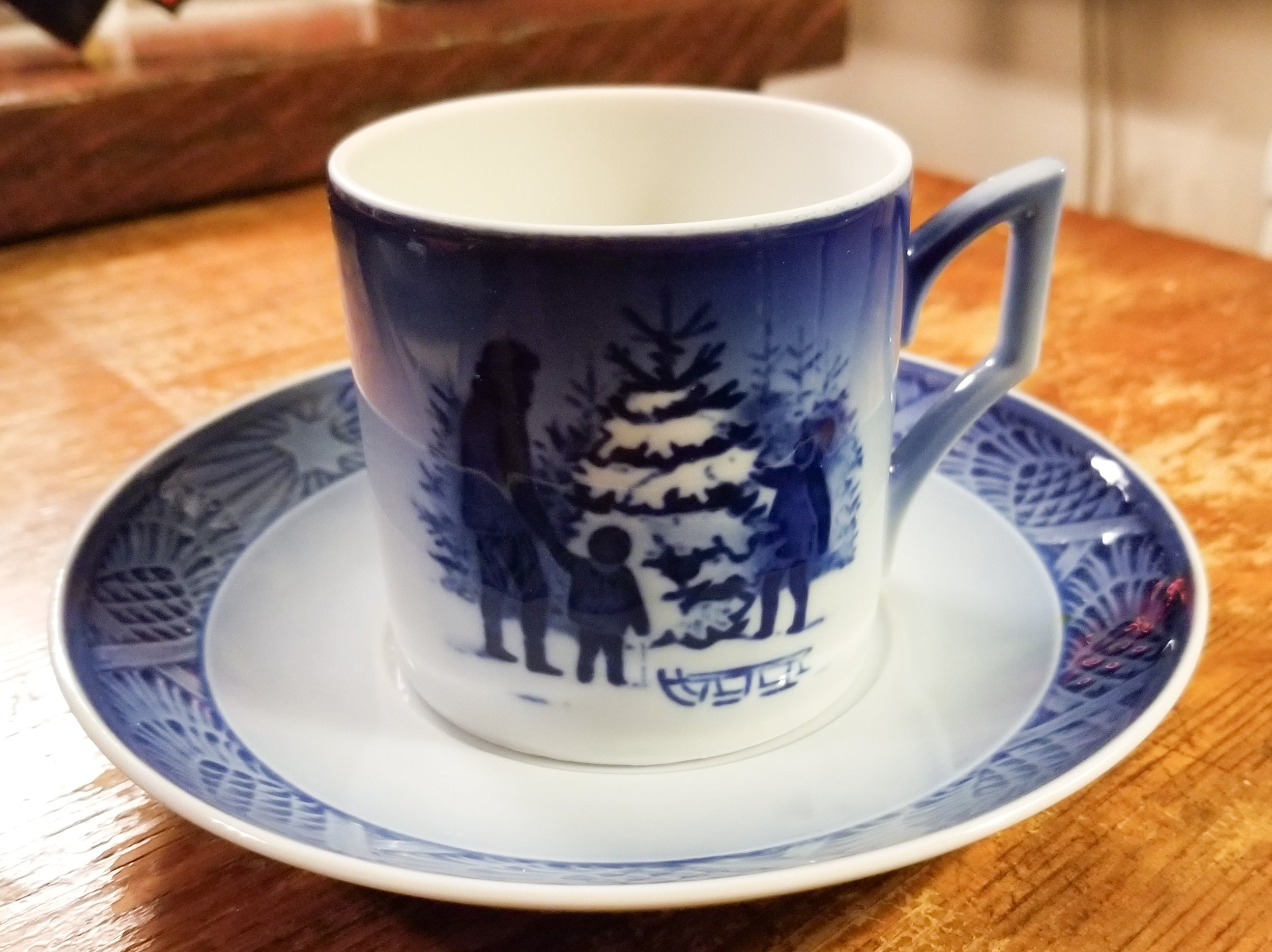 Choosing the Christmas Tree Cup & Saucer by ROYAL COPENHAGEN 1979