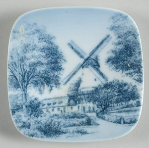 Vintage Bing and Grondahl  Porcelain Plaquette Dybbol Molle Giftware Windmill 9709/708