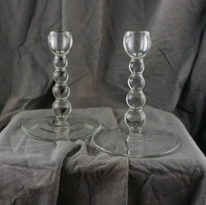 Single Light Candlesticks Alexander Clear Paden City Clear Glass Balls