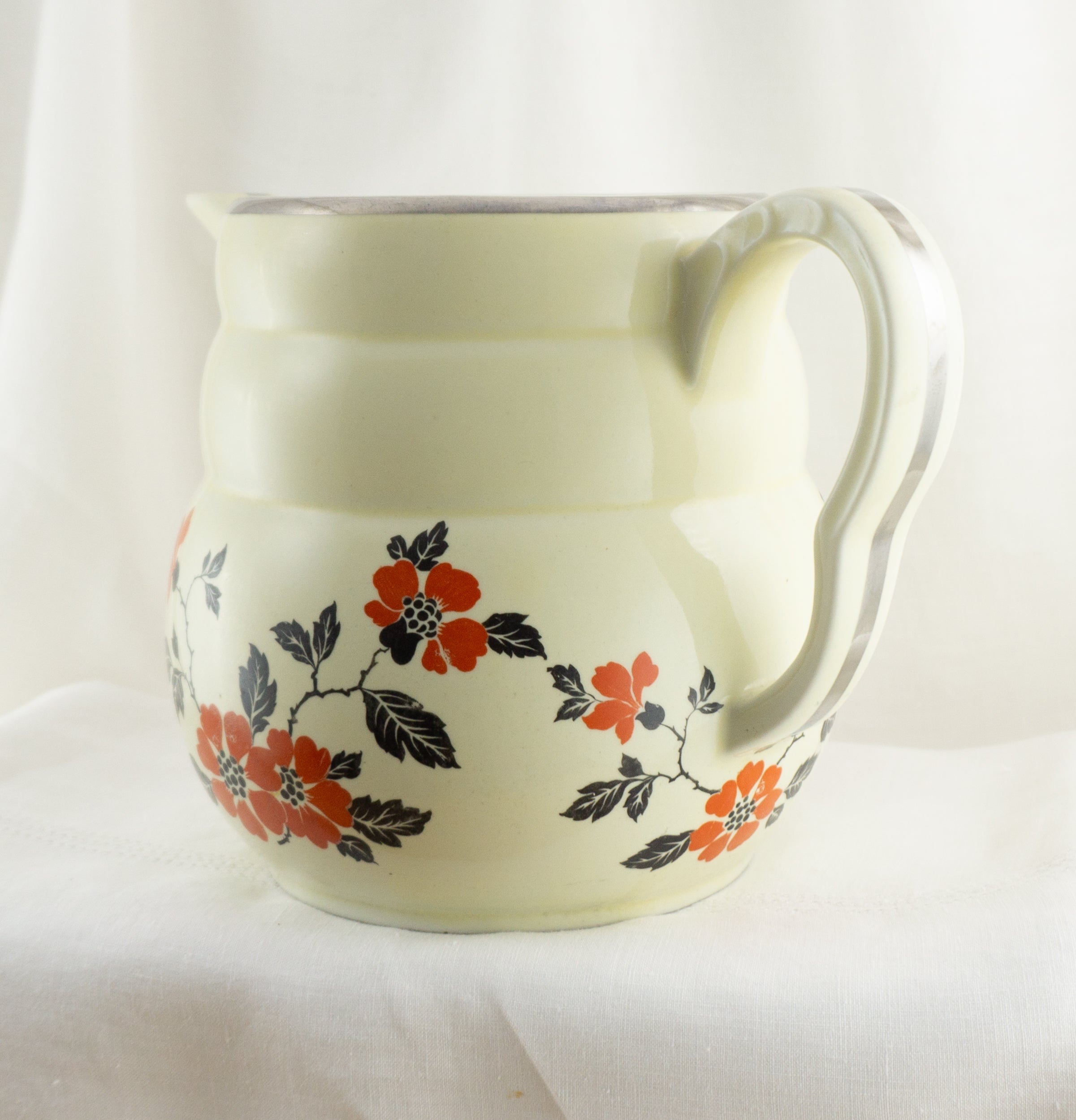 Large Daniel Coffee Pot Red Poppy by HALL 1930s