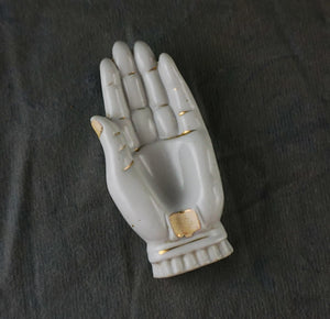 Vintage Ceramic Hand Palm Mystical Personal Ashtray