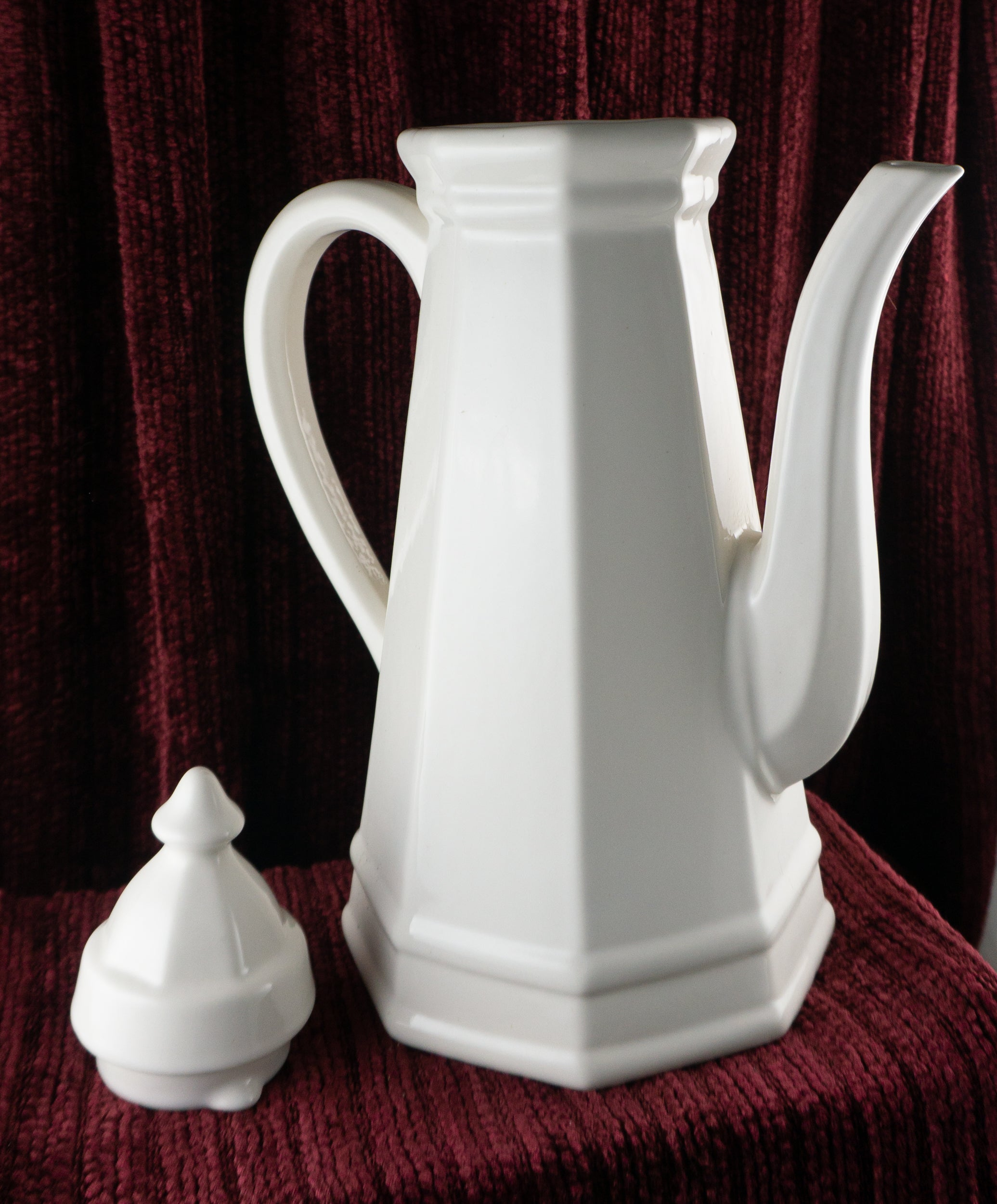 Nine Cup Coffee Pot & Lid Heritage White by PFALTZGRAFF