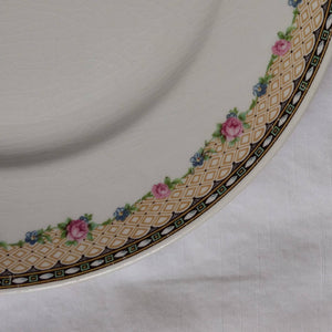 Vintage Knowles Taylor and Knowles 21550 1 - 4 Pink Blue Flower Garland Dinner Plate