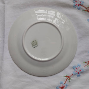 Vintage Knowles Taylor and Knowles 21550 1 - 4 Pink Blue Flower Garland 6 Inch Bread Plate