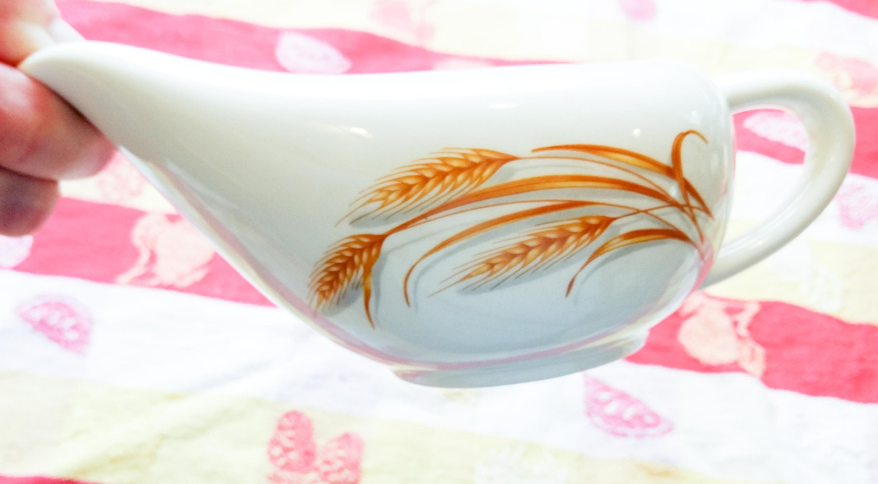 Discontinued Mid Century Modern MCM Homer Laughlin Golden Wheat Open Sauce Gravy Boat