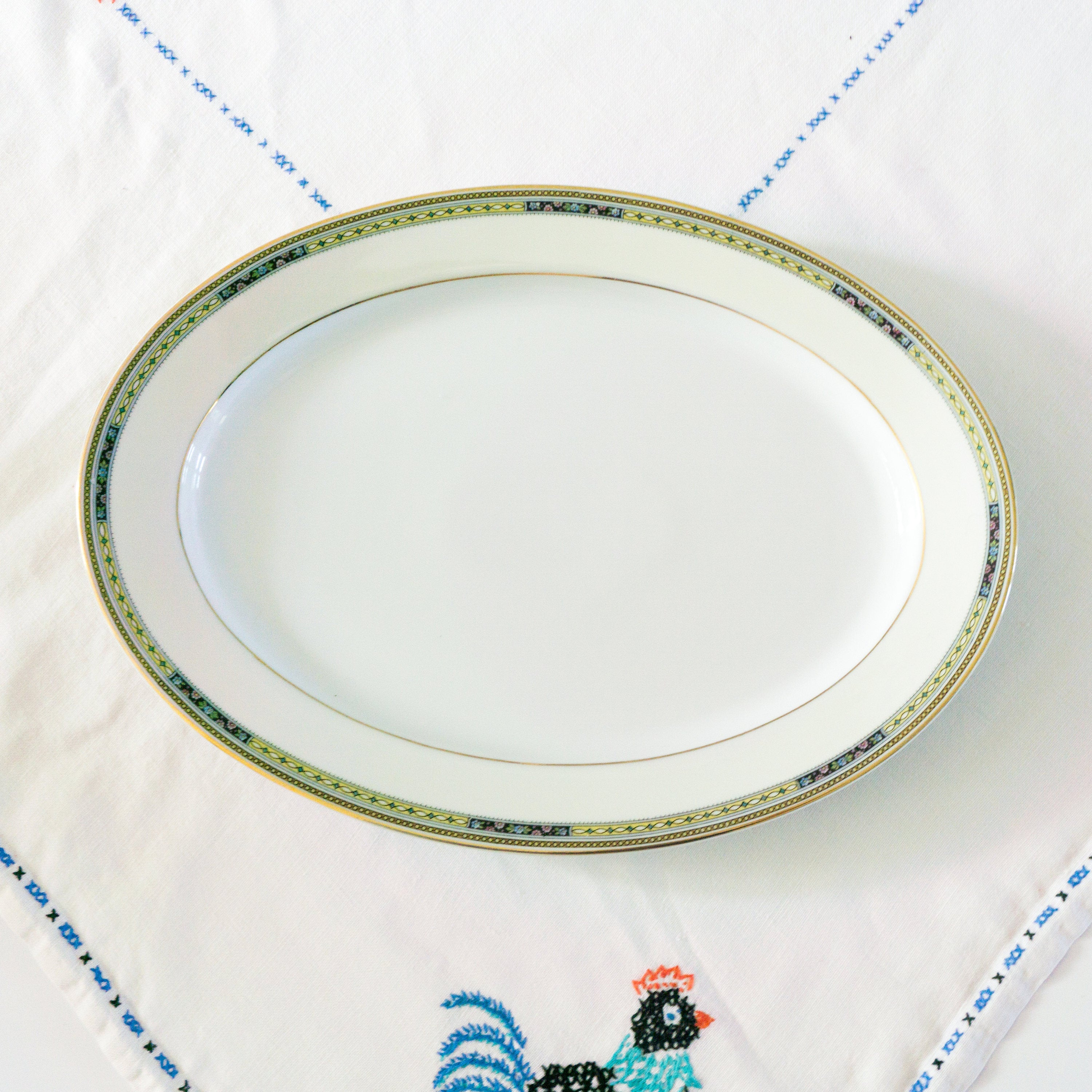 Antique Bavarian China Heinrich & Co Pattern 10263 Oval Serving Platter 14""