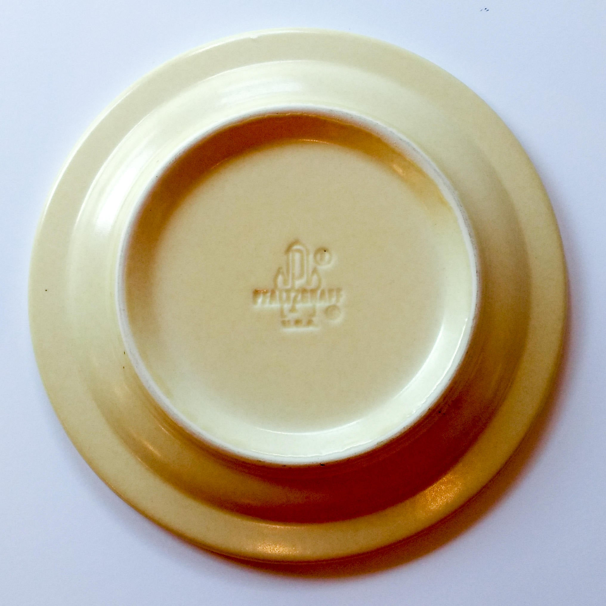Vintage Salad Plate with Decal in Village (Made in USA) by Pfaltzgraff