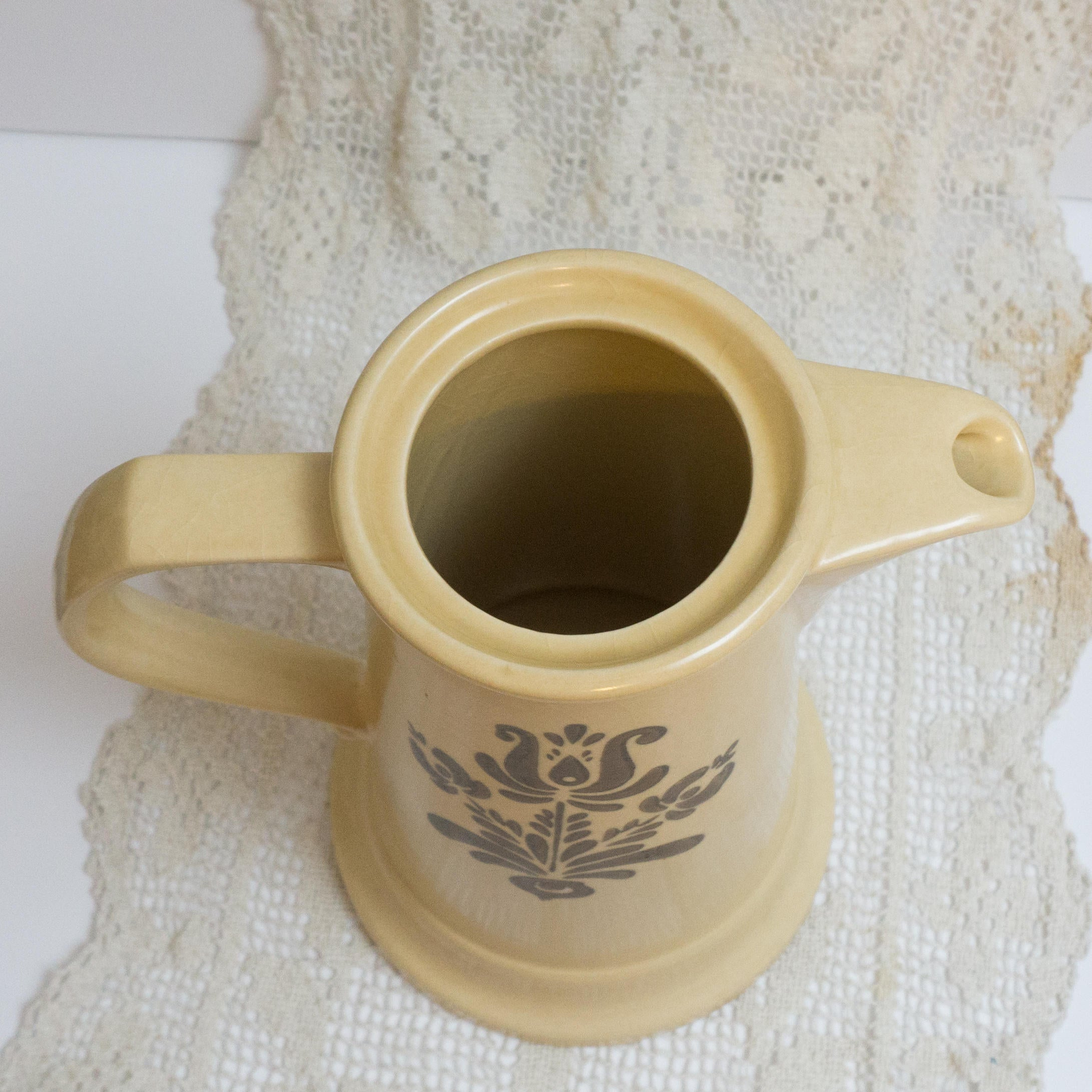 Vintage Coffee Pot in Village (Made in USA) by Pfaltzgraff  NO LID  S-490