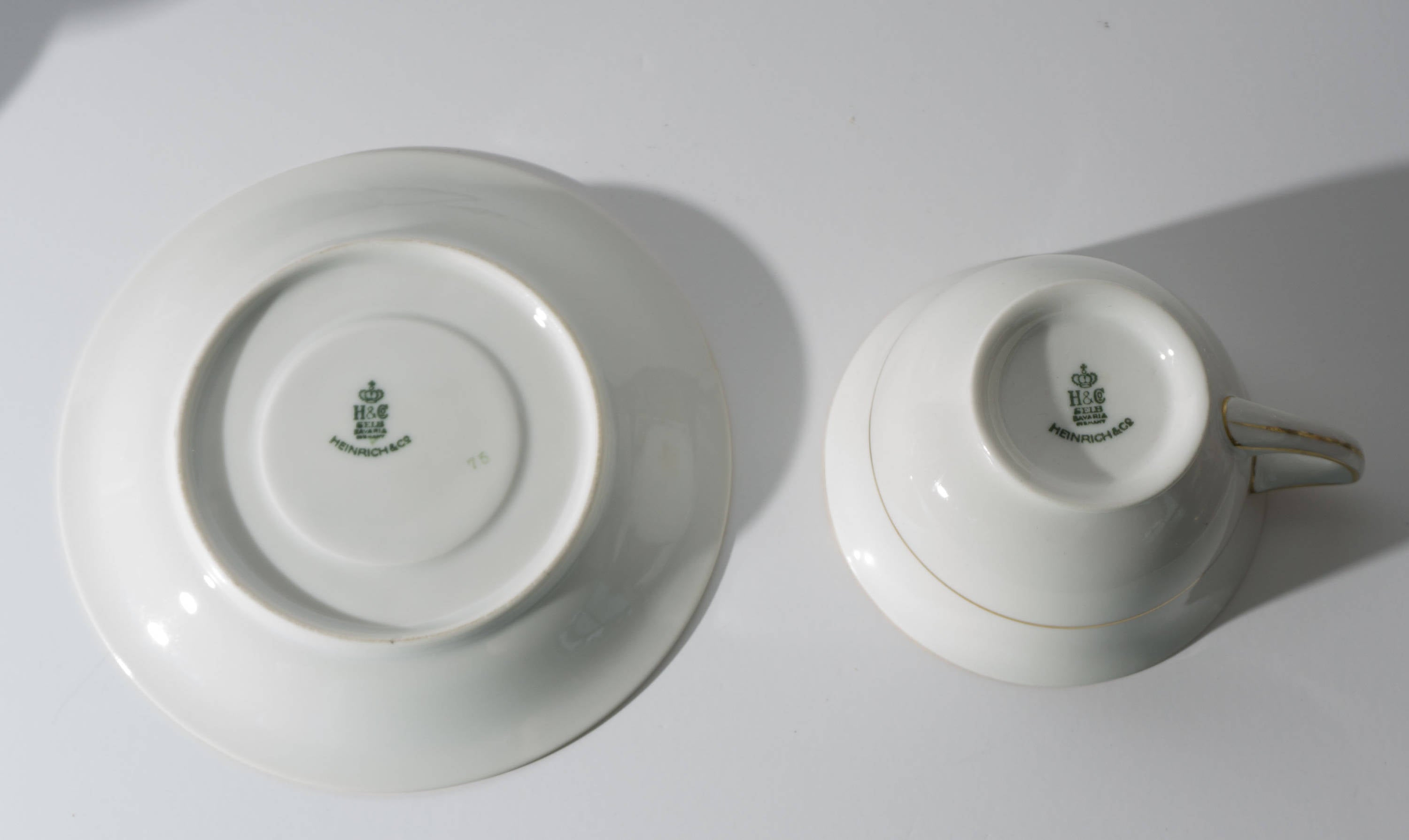 Antique Bavarian China Heinrich & Co Pattern 10263 Cup / Saucer Set