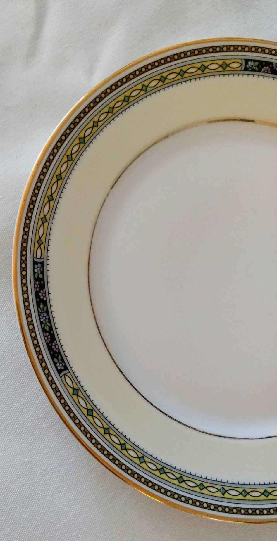 Antique Bavarian China Heinrich & Co Pattern 10263 Bread Plate 6.25""