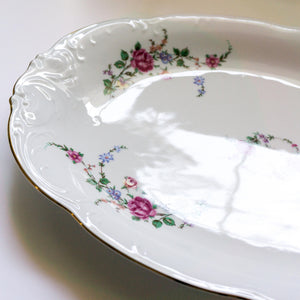 Wawel Rose Garden Vintage Polish China Serving Platter 13""