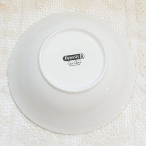"Vintage 9"" White Round Vegetable Bowl in DYN4 by Dynasty China"
