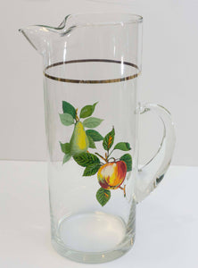 Vintage Mid Century MCM Tall Glass 50 Ounce West Virginia Glass WVG24 Pitcher