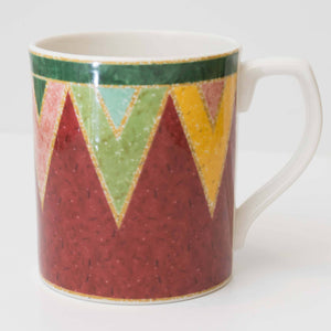 Discontinued Southwestern Style Japora by ROYAL DOULTON Red Triangle Coffee Mug Cup
