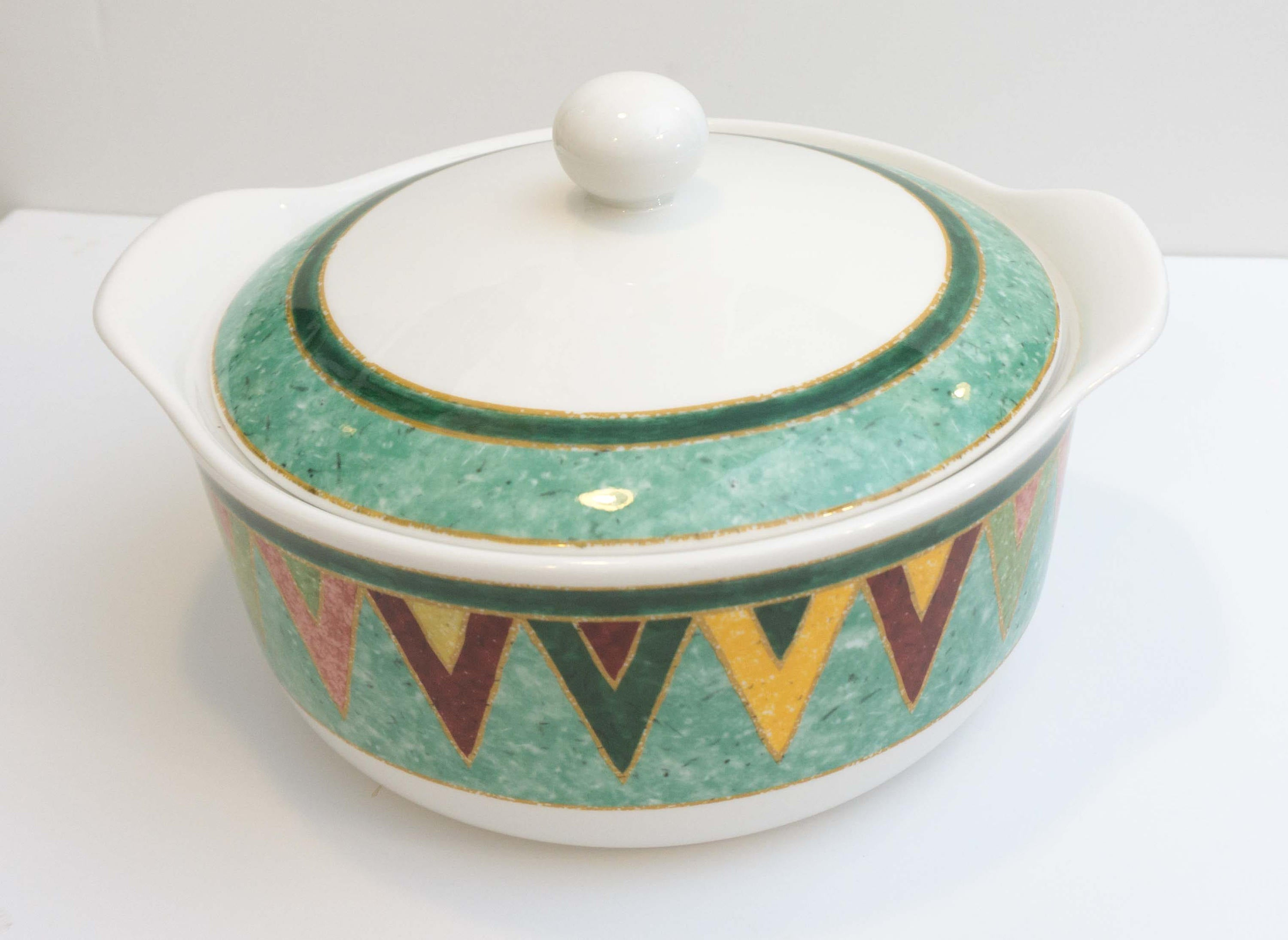 Discontinued Southwestern Style Large 2.5 Quart Covered Casserole in Japora by Royal Doulton