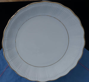 TEN Formal Vintage China Empire (Ribbed) by Walbrzych Dinner Plates ca 1950's