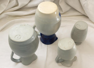 LOT of Eight WIlliamsburg Blue and White American Hand Thrown Pottery