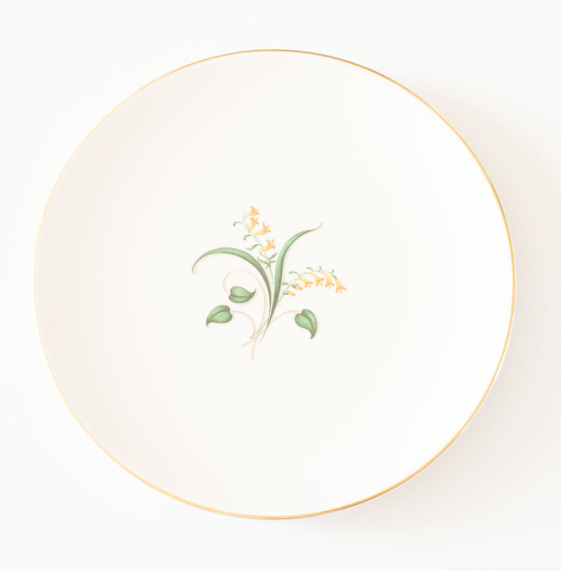 Vintage Forsythia by Knowles Pottery Co ca 1953 - Bread and Butter Plate