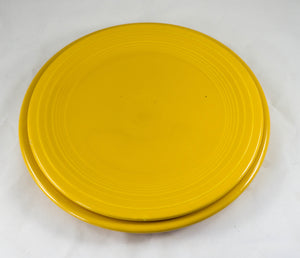TWO Pieces Discontinued Original Yellow Fiestaware Dinner Plate Salad Plate