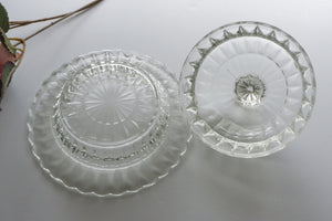 Vintage Butter-Covered/Round Windsor Clear by JEANNETTE