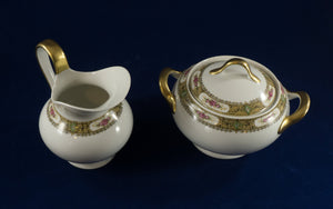 Vintage Tressemanes and Vogt China from Limoges, France ca 1910 - Cream and Sugar
