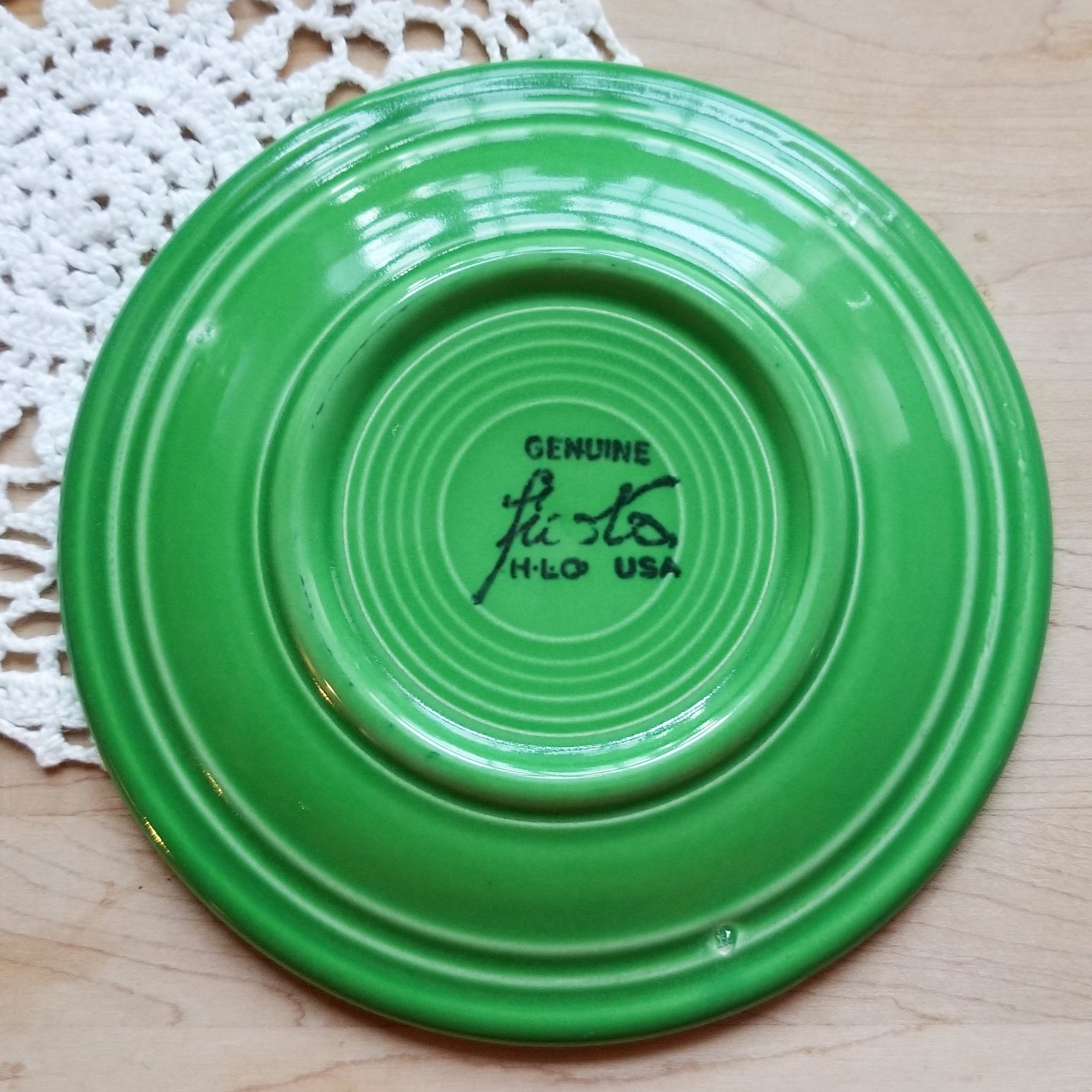 THREE Discontinued Original Bread & Butter Plate Fiesta Medium Green (Older) by HOMER LAUGHLIN