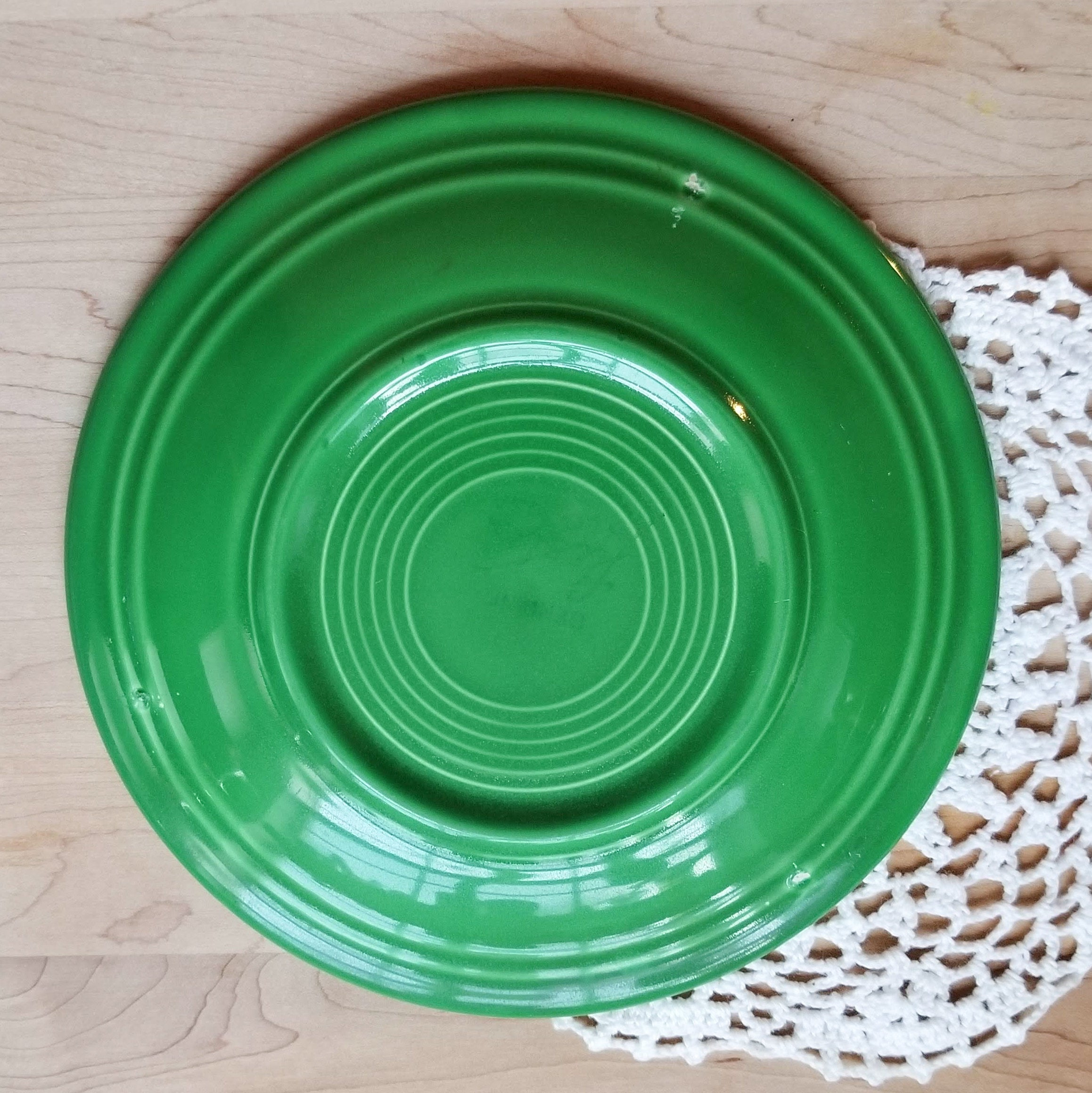 THREE Discontinued Original Salad Plate Fiesta Medium Green (Older) by HOMER LAUGHLIN