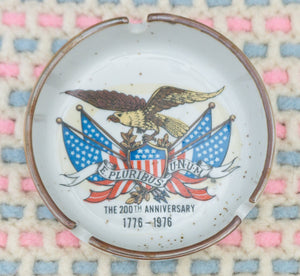 LOT of FIVE Vintage Ceramic Souvenir United States Ashtrays