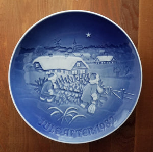 Vintage B & G Bing and Grondahl Christmas Plate Jule After 1982 The Christmas Green