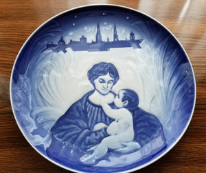 Vintage Christmas Remembered-1895-1908-Madonna - No Box Plate by BING & GRONDAHL Royal Copenhagen 1987